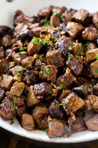 Steak Bites with Garlic Butter Recipe
