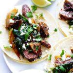 steak, poblano and mushroom tacos recipe