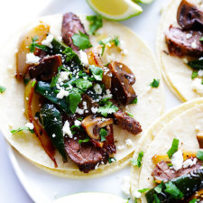 Steak, Poblano and Mushroom Tacos Recipe