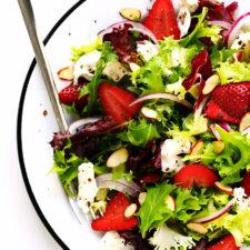 Strawberry Burrata Salad with Basil Vinaigrette Recipe