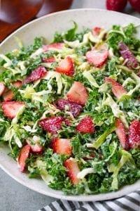 Strawberry Kale Coleslaw Recipe