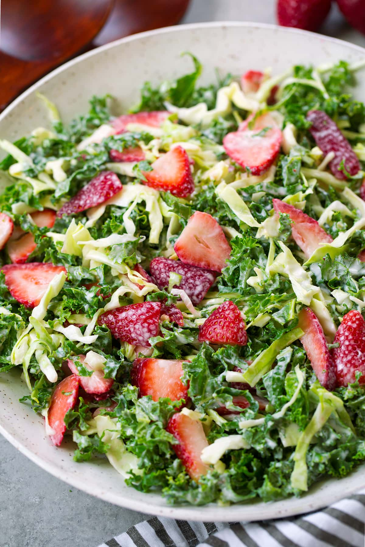 Strawberry Kale Coleslaw Recipe