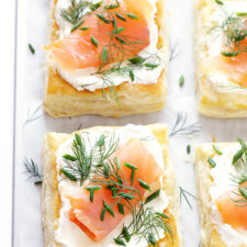 Smoked Salmon and Cream Cheese Pastries Recipe