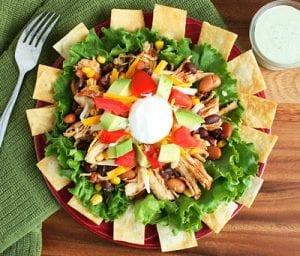 Taco Salad and Cilantro Lime Ranch Recipe