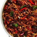 thai basil beef noodle stir-fry recipe