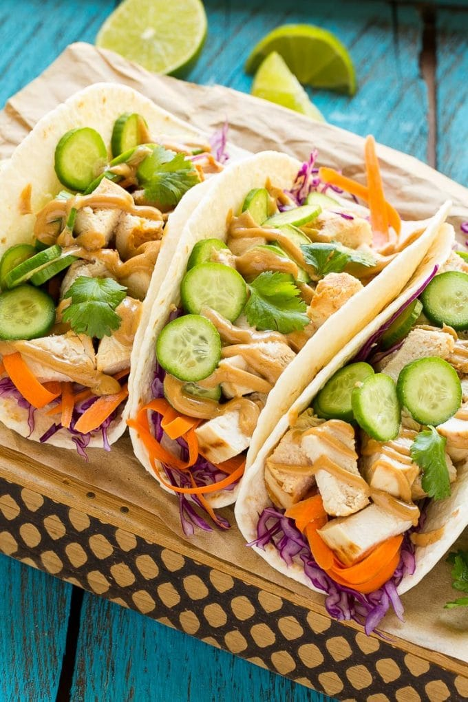 Thai Chicken Tacos Recipe