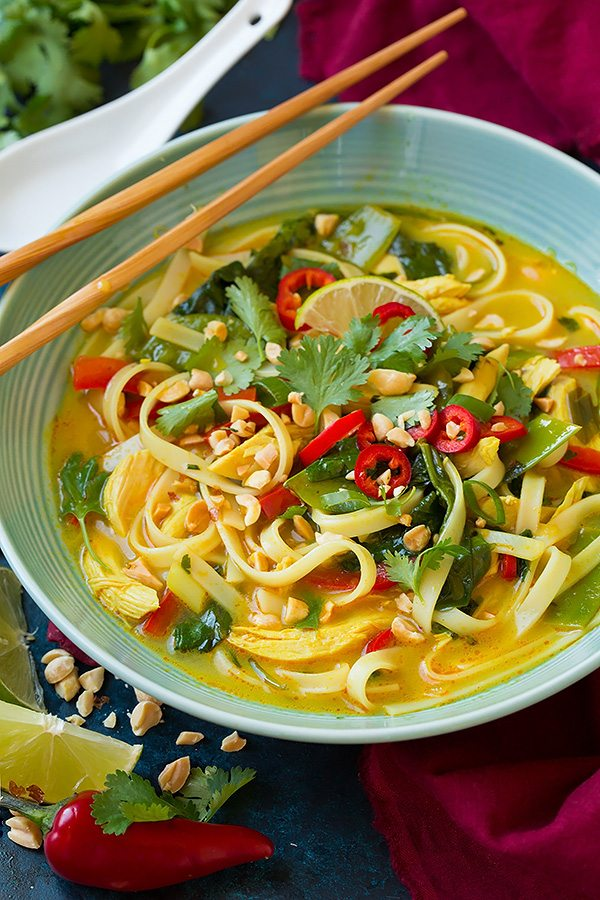 Thai Coconut Curry Chicken Soup Recipe