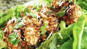 Thai Peanut-Coconut Chicken Lettuce Wrap Recipe