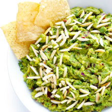 Toasted Almond and Chipotle Guacamole Recipe