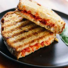 tomato jam and mozzarella panini recipe