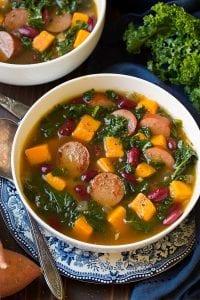 Turkey Sausage Kale and Sweet Potato Soup Recipe
