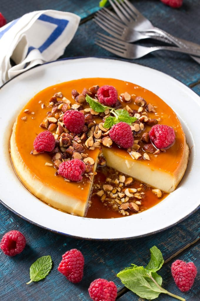 Vanilla Almond Flan Recipe