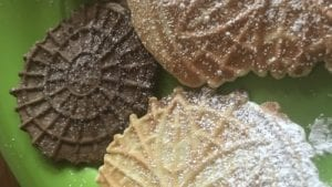 Vanilla & Chocolate Pizzelles Recipe