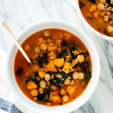 Vegan Sweet Potato, Kale and Chickpea Soup Recipe