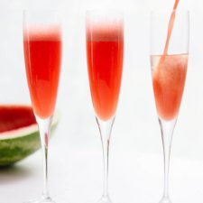 Watermelon Mimosas Recipe