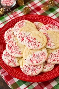 White Chocolate Dipped Peppermint Sugar Cookies Recipe
