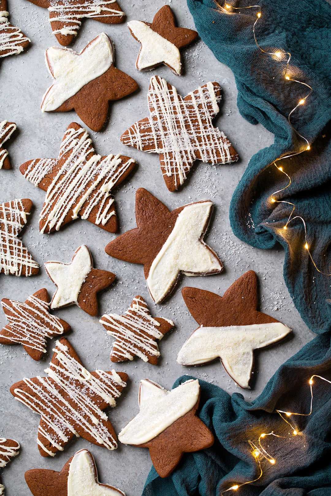 White Chocolate Gingerbread Star Cookies Recipe