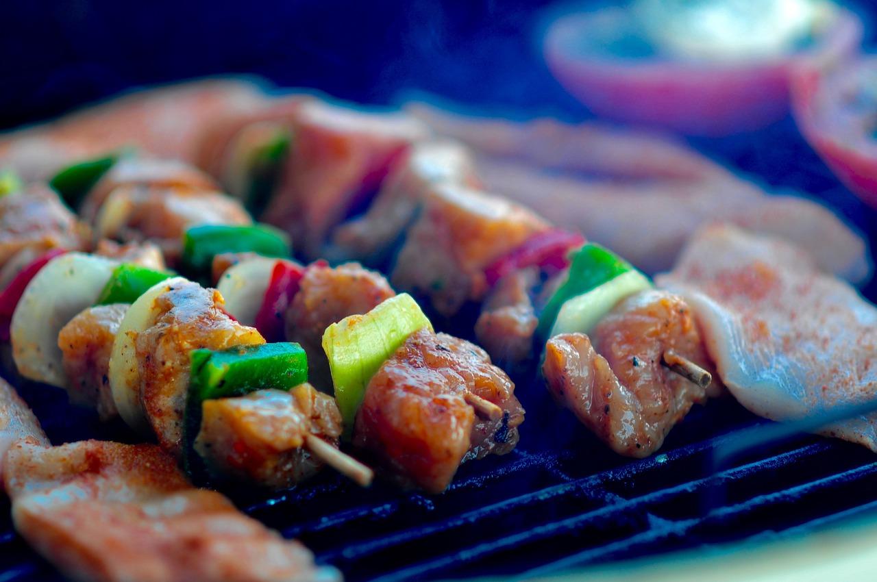 Za'atar Chicken and Veggie Kabobs Recipe