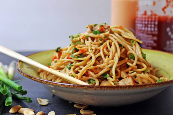 5 Ingredient Asian Peanut Noodles Recipe