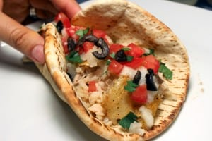 Chicken Pita Tacos with Garlic Paste Recipe