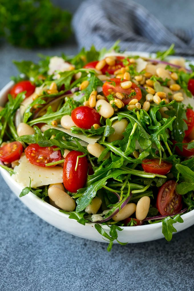 Arugula Salad with White Beans Recipe