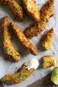 Avocado Fries with Lime Dipping Sauce Recipe