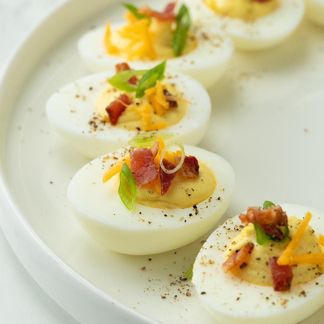 Cheddar and Bacon Deviled Eggs Recipe