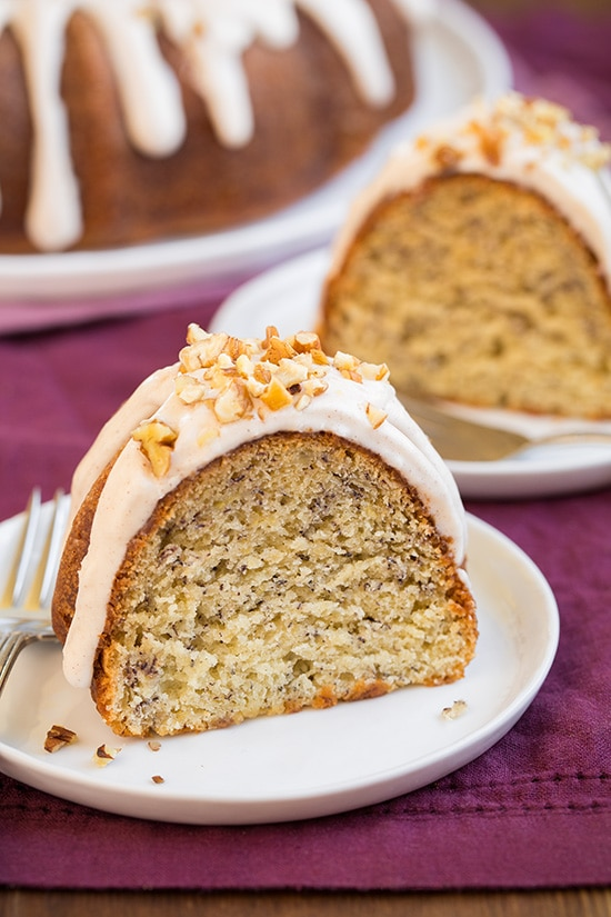 Banana Bundt Cake with Cream Cheese Icing Recipe