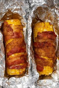 BBQ Bacon Wrapped Corn on the Cob Recipe