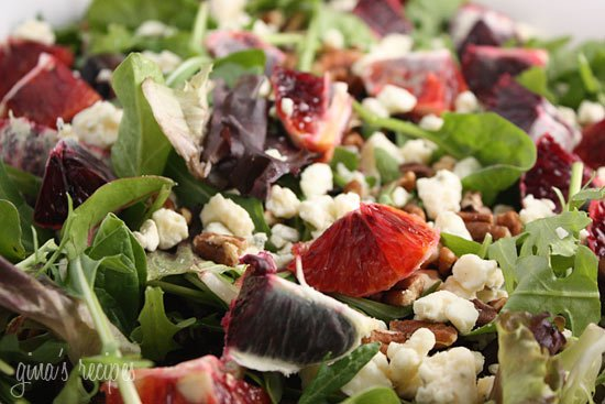 Blood Orange Salad with Baby Greens and Pecans Recipe