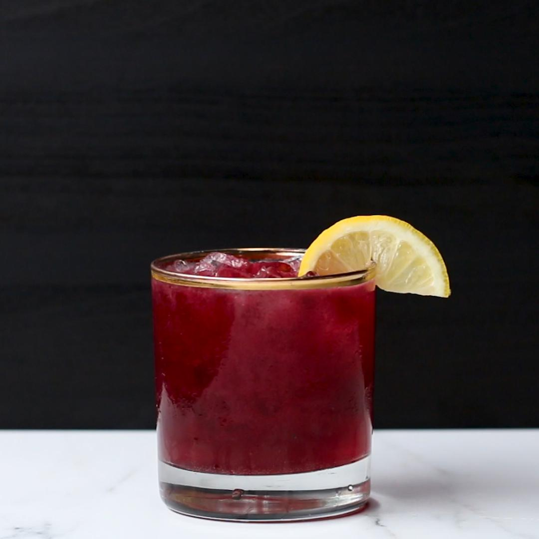 Blueberry Lemon Bourbon Smash Recipe