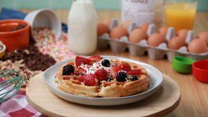 Breakfast Waffles 2-Ways Recipe