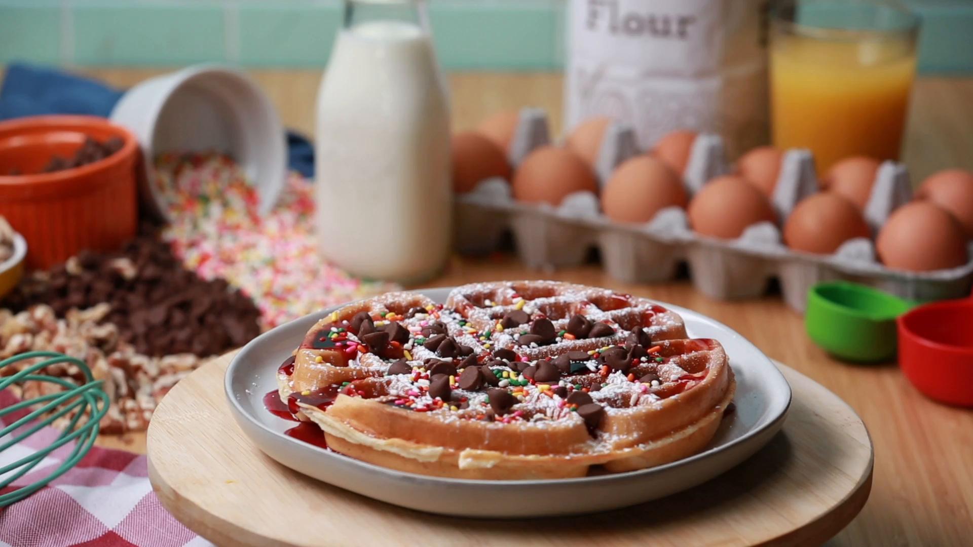 2-Way Chocolate Chip Breakfast Waffles Recipe