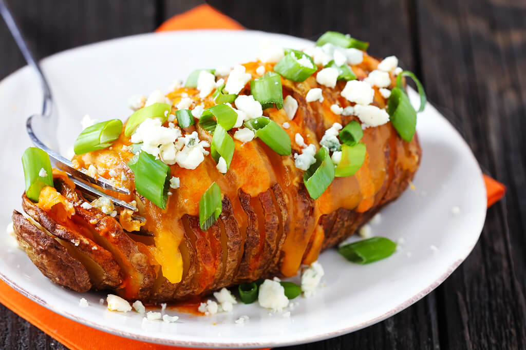 Buffalo Hasselback Potatoes Recipe