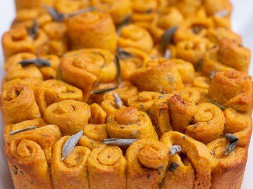 butternut squash sage pull-apart bread recipe