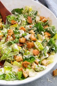 Caesar Salad with Homemade Salad Dressing Recipe