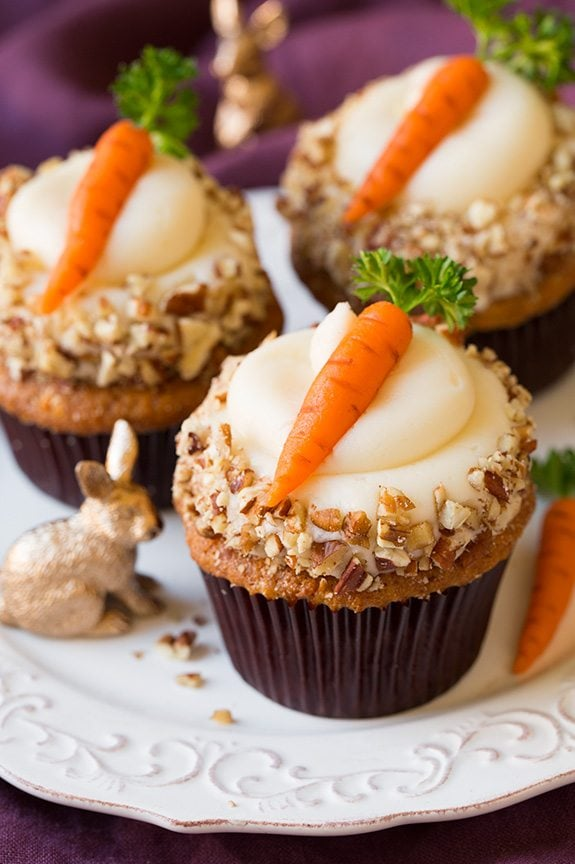 Carrot Cupcake with Cream Cheese Frosting Recipe