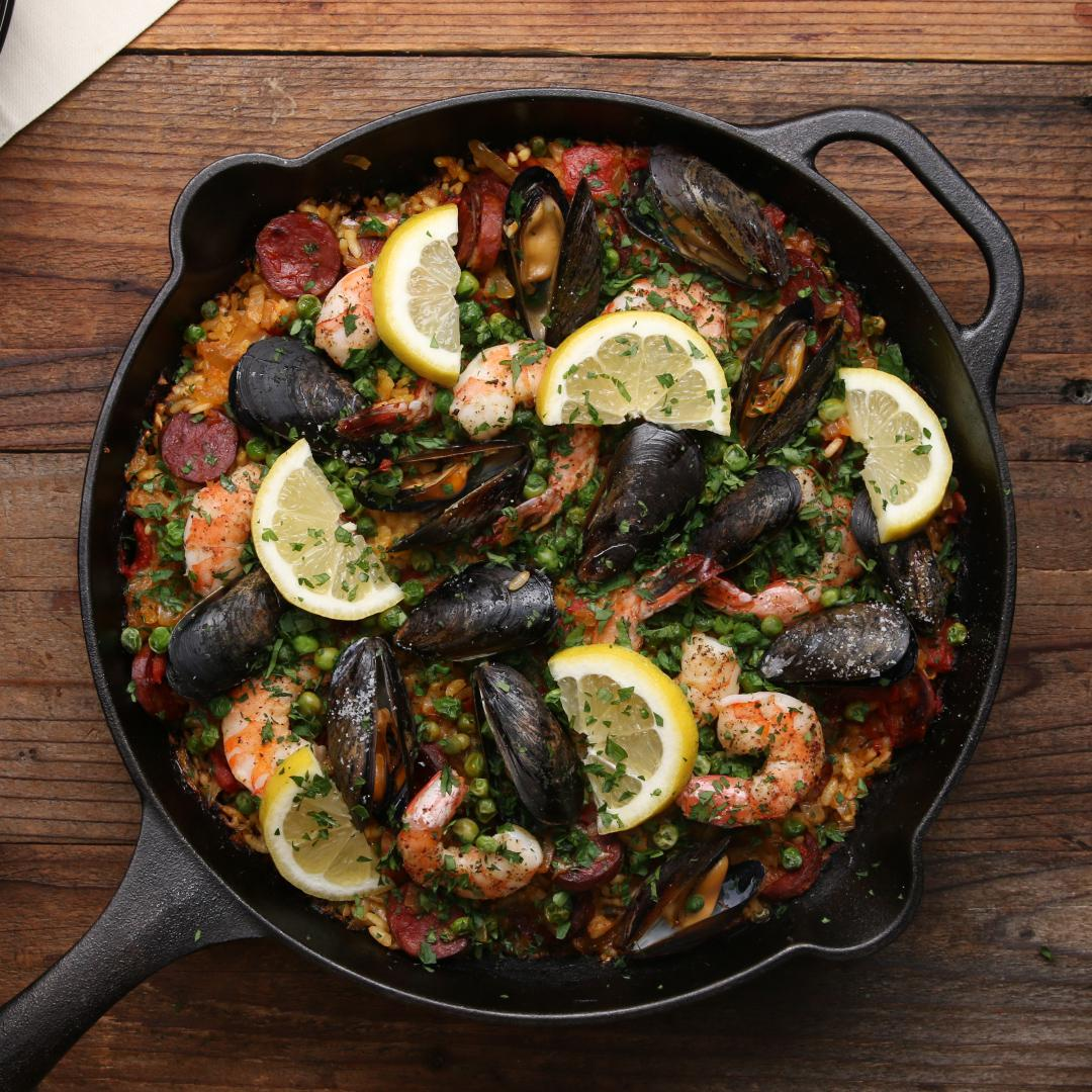 Cast Iron 30-minute Paella Recipe