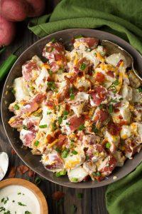 Cheddar Bacon Ranch Potato Salad Recipe