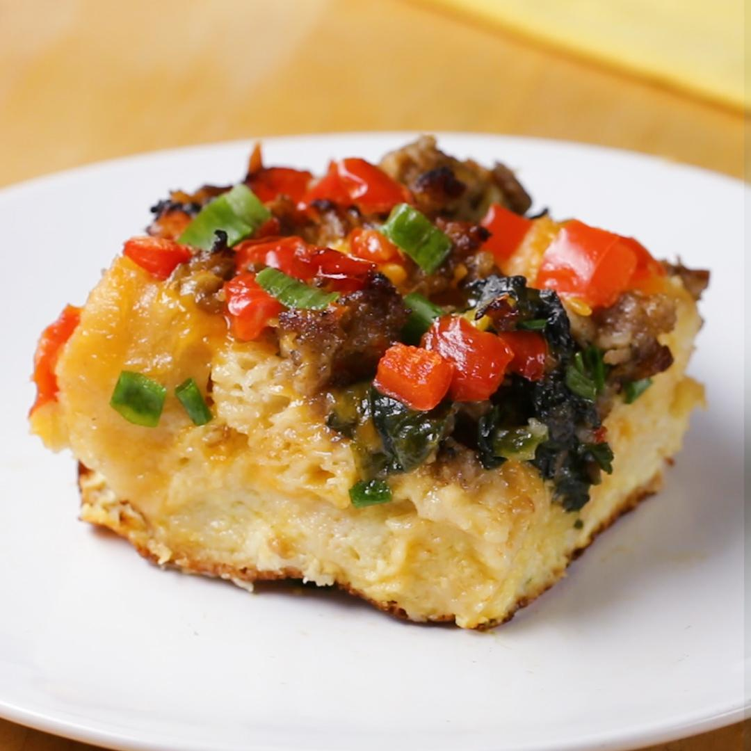 Cheddar Sausage Best Breakfast Casserole Recipe