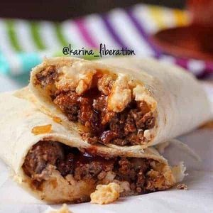 Cheeseburger Scrambled Egg Wrap Recipe