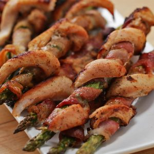 Chicken Bacon Asparagus Twists Recipe