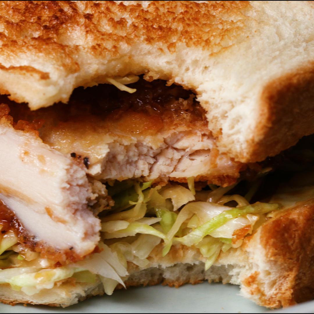 Japanese Chicken Katsu Sandwiches Recipe