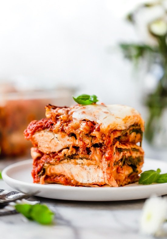 Five-Layered Parmesan Chicken Lasagna Recipe