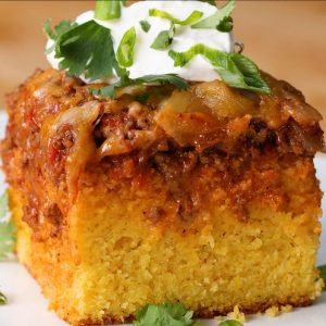 Chili-Cheese Cornbread Poke Cake Recipe