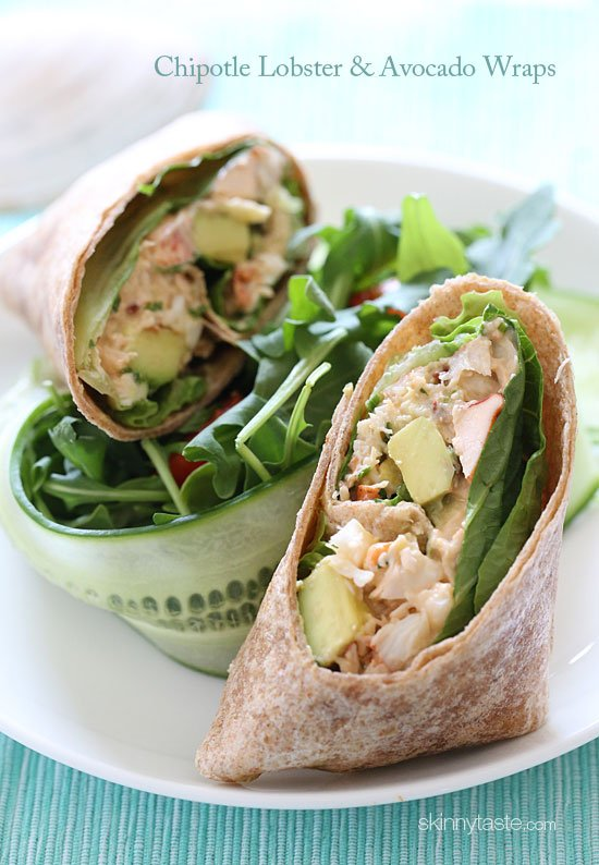 Chipotle Lobster Avocado Wrap Recipe