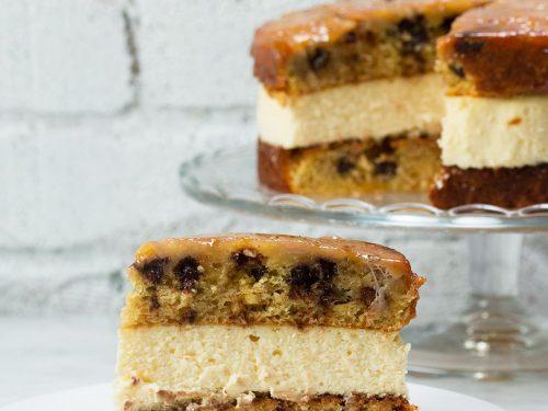 chocolate chip bananas foster 'box' cheesecake recipe