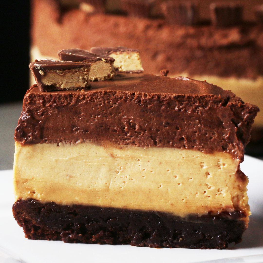 Chocolate Peanut Butter Mousse 'Box' Cake Recipe