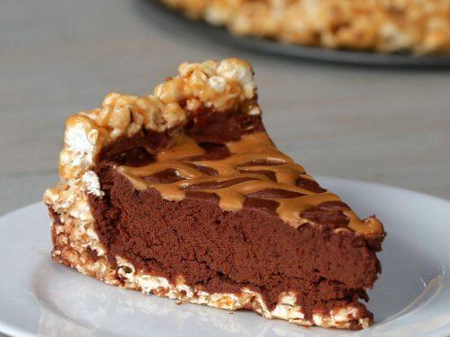 chocolate peanut butter popcorn pie recipe
