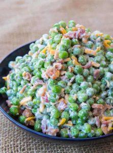 Creamy Bacon Pea Salad Recipe